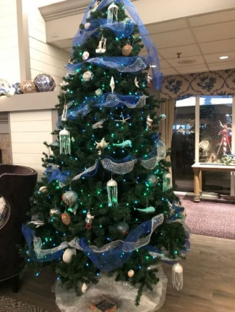 Christmas Tree in Cape Codder Resort & Spa Lobby