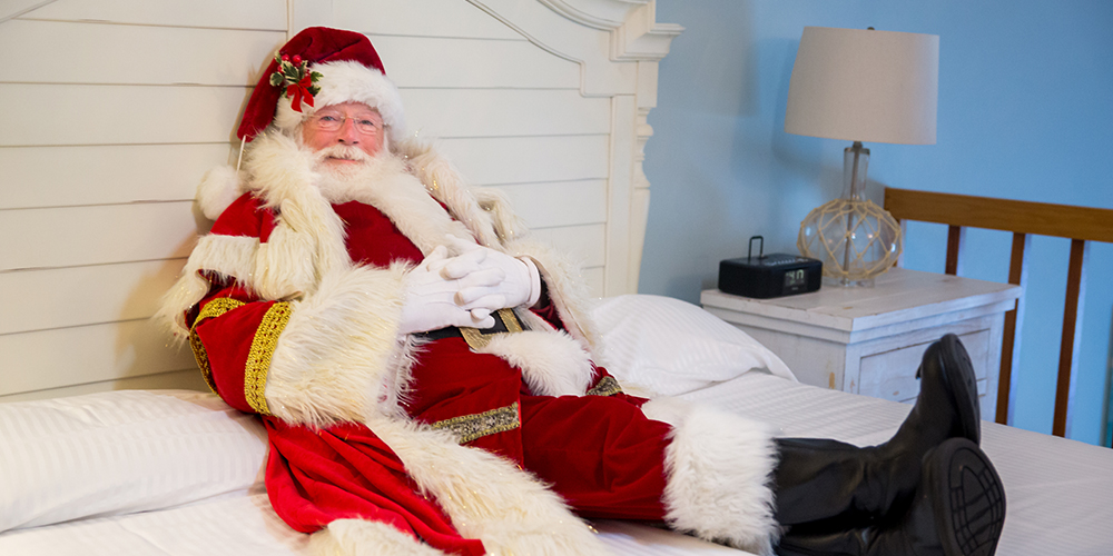 Santa relaxing at the Cape Codder Resort and Spa