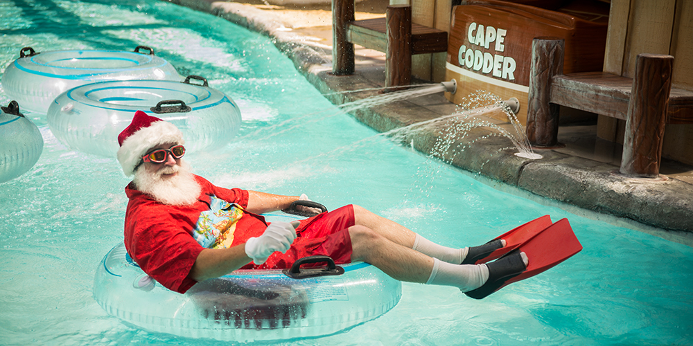 Santa at the Cape Codder Water Park
