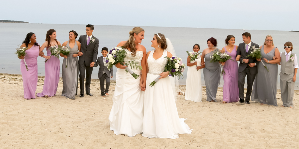 Beach Wedding Ceremony in Hyannis on Cape Cod