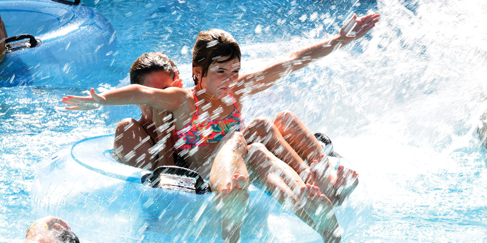 Splashing in the Water Park on Cape Cod
