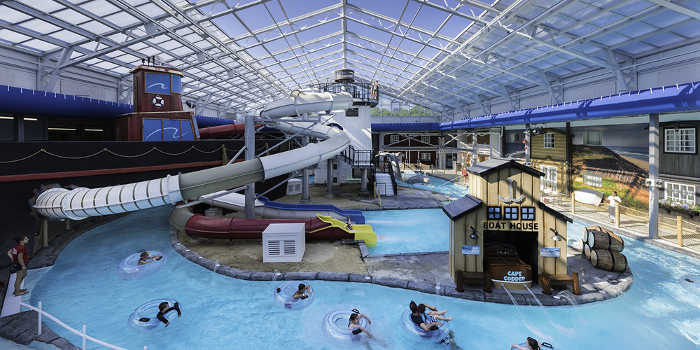 Indoor and Outdoor Water Park at the Cape Codder Resort and Spa