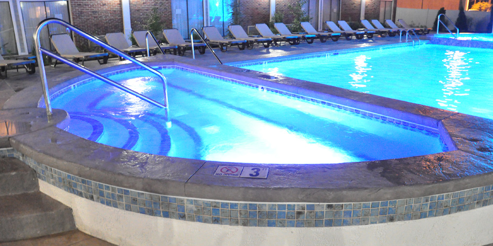 Heated outdoor pool at the Cape Codder Resort and Spa