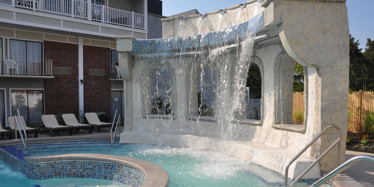 Waterfalls at the Heated Outdoor Pool