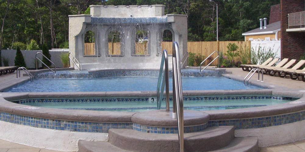 Waterfall at the Heated Outdoor Pool